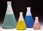 Polypropylene Erlenmeyer Flasks with Graduations