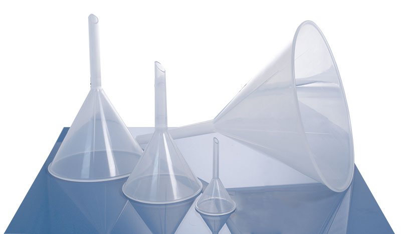Polypropylene Analytical Funnels, 4 sizes