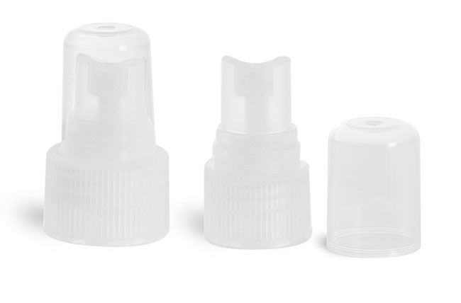 Plastic Caps, Natural Fine Mist Sprayers