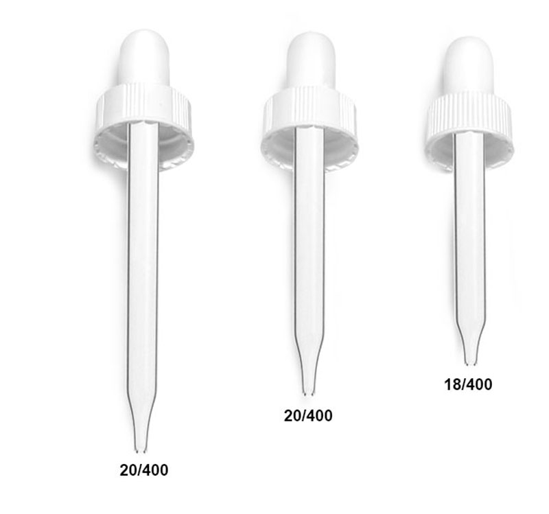 White Bulb Glass Droppers