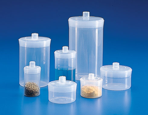 Polypropylene Plastic Weighing Bottles w/ Airtight Lids