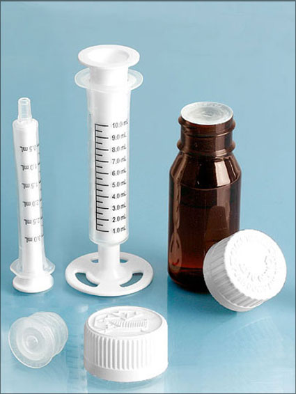SealSafe Self-Healing Orifice Reducers w/ Amber PET Bottles & Accessories