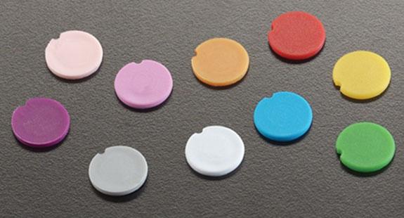 Plastic Caps, Polypropylene Color Coding Cap Inserts