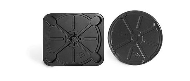 Laboratory Tins, Black Plastic CD Inserts for Square Tins