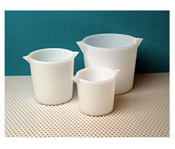 Heavy Wall Tapered HDPE Plastic Beakers