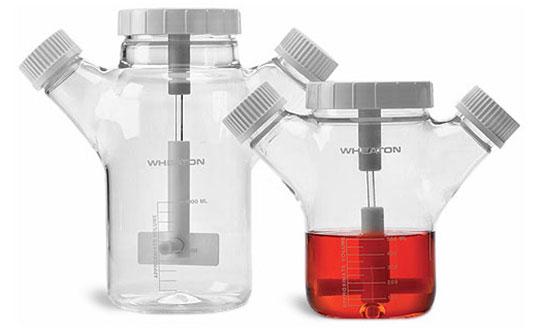 Glass Flasks, Celstir Glass Spinner Flasks w/ Double Sidearm