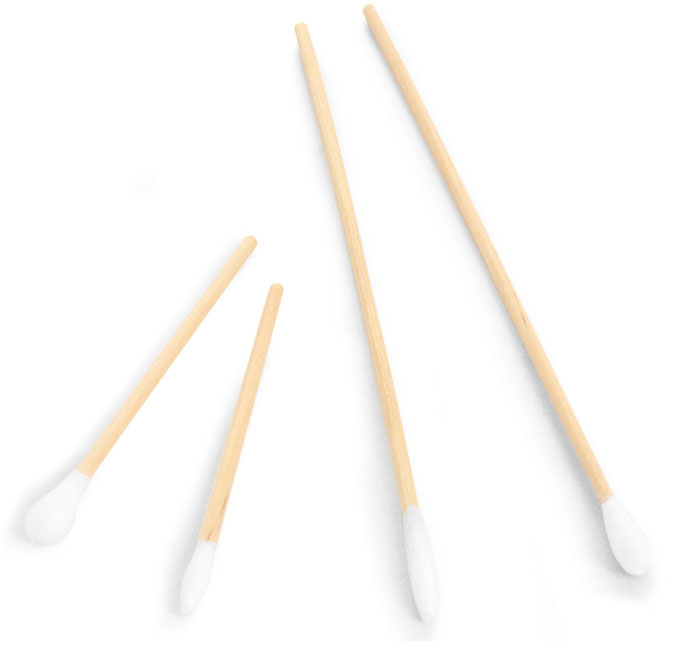 disposable cotton swabs