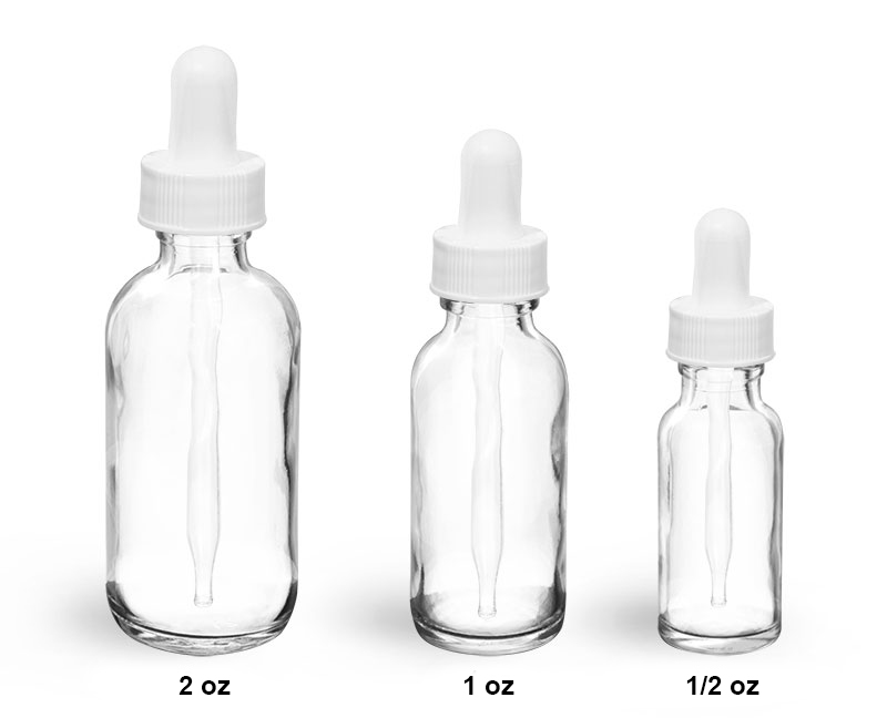 Sks Science Products Glass Bottles Clear Glass Rounds