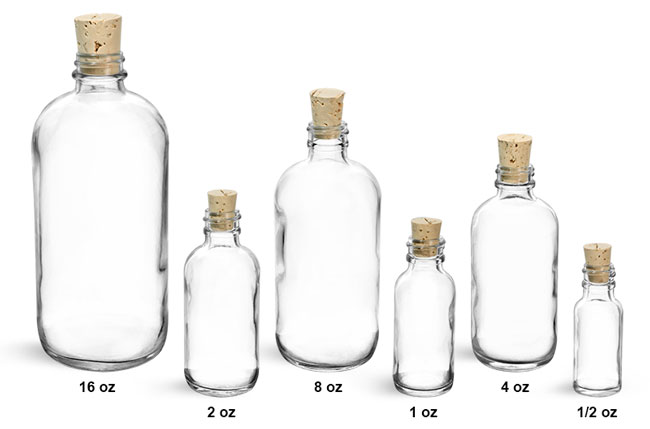 Oz Clear Glass Bottles