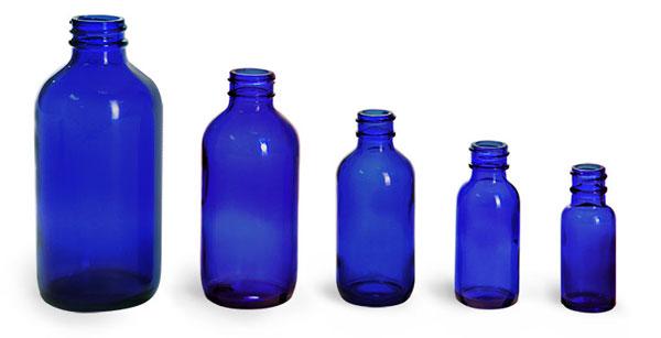 Blue Glass Boston Rounds (Bulk)