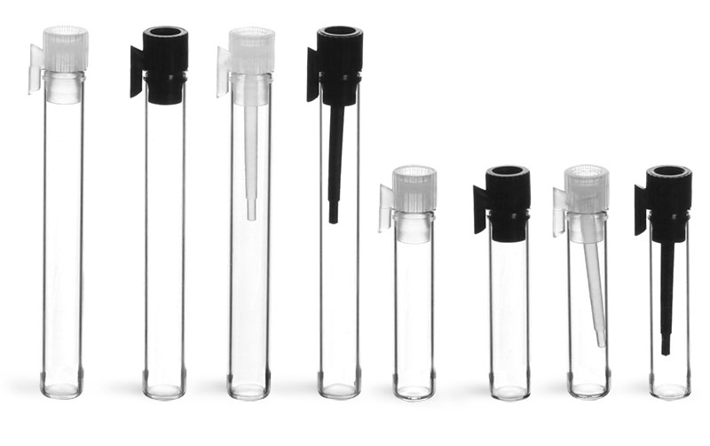 Clear Glass Sampler Vials w/ PE Stoppers