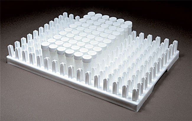 Polypropylene Autoclavable Vial Caddy for 17mm Vials