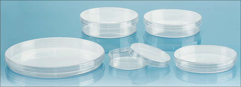 Plastic Petri Dishes, Sterile Polystyrene Petri Dishes