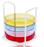 White Epoxy Coated Petri Dish Stand