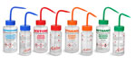 Lab Bottles, Color Coded LDPE Wide Mouth Wash Bottles