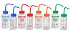 Wash Bottles, Color Coded LDPE Wide Mouth Wash Bottles