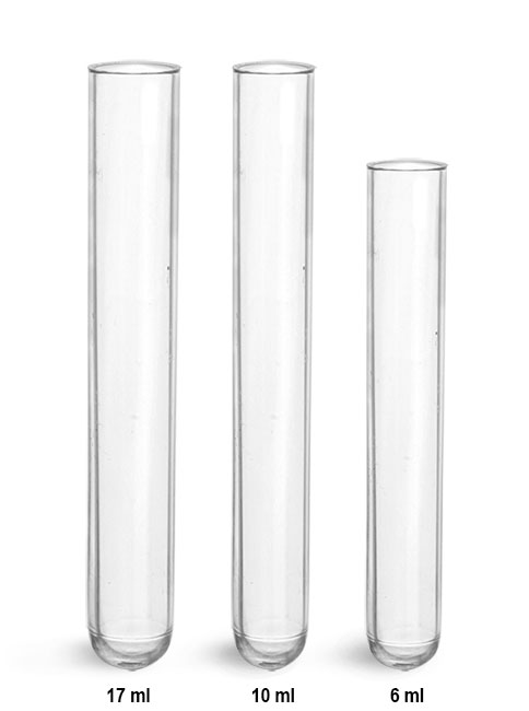 Test Tubes, Disposable Plastic Culture Tubes