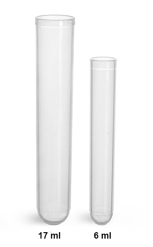 Test Tubes, Plastic Test Tubes, Disposable Polypropylene Culture Tubes