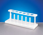 White HDPE Test Tube Racks