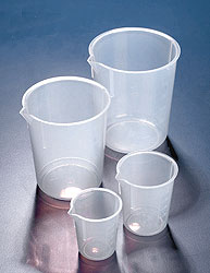 Tapered Molded Polypropylene Plastic Beakers