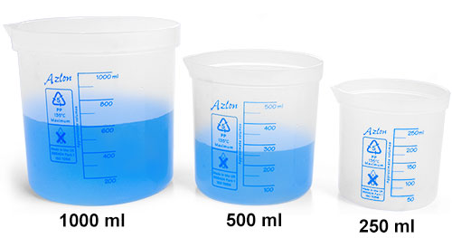 Plastic Beakers, Polypro Square Ratio Beakers