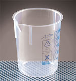 Printed Tapered Polypropylene Plastic Beakers