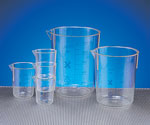 Printed Tapered PMP Plastic Beakers