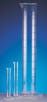PMP Plastic Graduated Cylinders w/ Printed Graduations