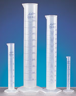 Polypropylene Plastic Graduated Cylinders w/ Printed Graduations