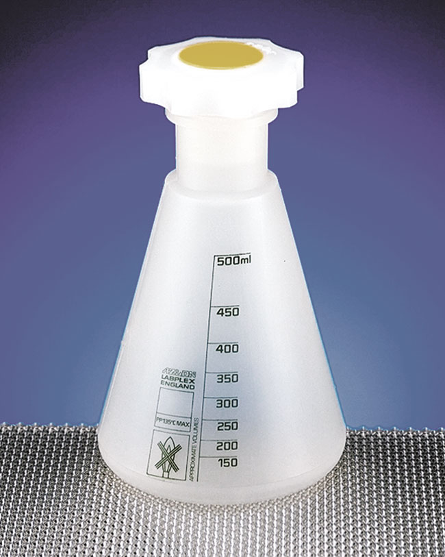 Polypropylene Plastic Erlenmeyer Flasks w/ Stoppers