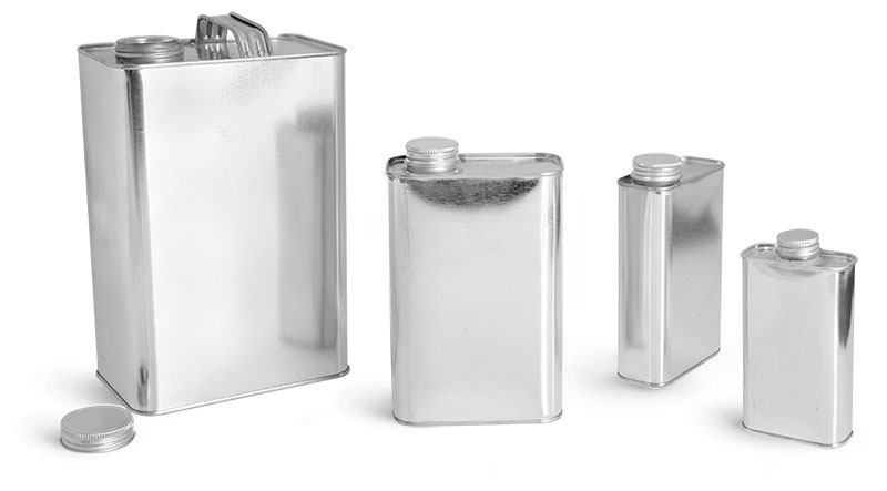 Sks Science Products Laboratory Metal Cans Oblong Metal