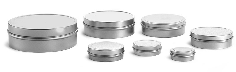 Laboratory Metal Tins, Flat Tins with Rolled Edge Covers