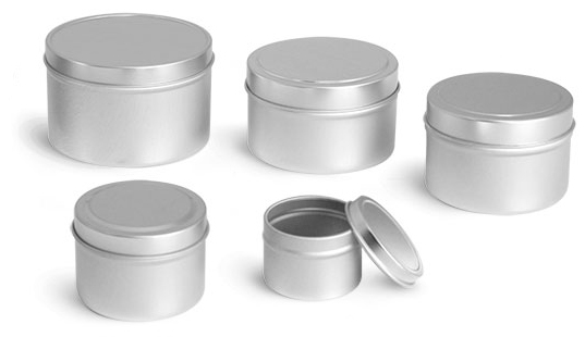 Laboratory Metal Tins, Deep Tins with Rolled Edge Covers