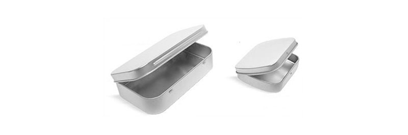 Laboratory Metal Tins, Hinge Top Tins