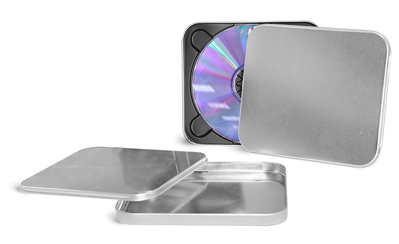 Laboratory Metal Tins, Square Metal CD Tins