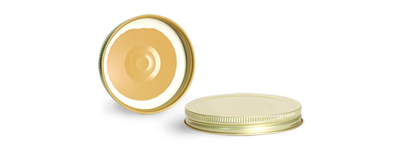 Gold Metal Plastisol Lined Caps
