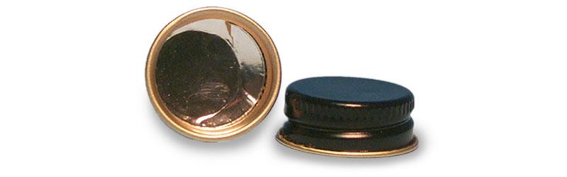 Black Metal Foil Lined Caps