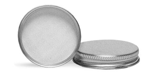Silver Caps, Aluminum with PE Liner