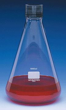 Glass Flasks, 1000 mL Clear Glass Erlenmeyer Flasks