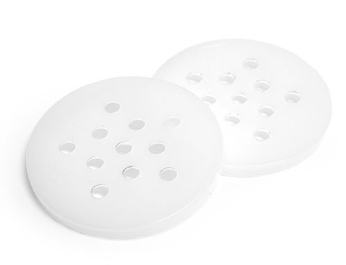 Plastic Caps, Natural Plastic Sifter Snap on Fitments