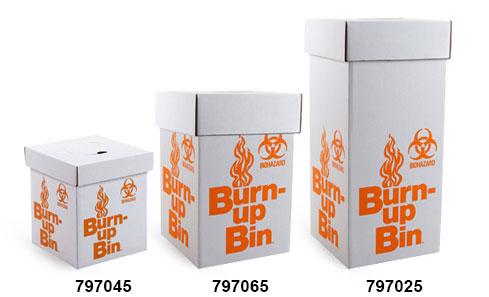 Biohazard Burn Up Bins