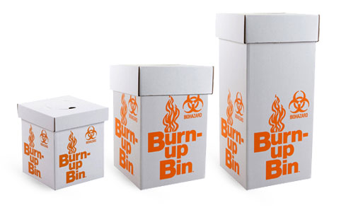 Biohazard Burn Up Bins