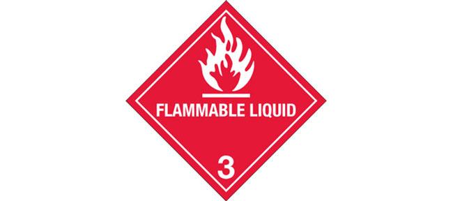 "... Labels, Hazard Class 3 ""Flammable Liquid"" Printed Laboratory Labels"
