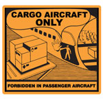"Hazardous Labels, ""Cargo Aircraft Only"" Printed Laboratory Labels"