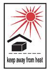 Keep Away From Heat Hazardous Labels