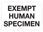 "Hazardous Labels, ""Exempt Human Specimen"" Printed Laboratory Labels"