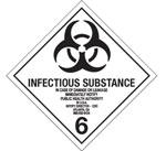 Infectious Substance Hazardous Labels, Class 6.2