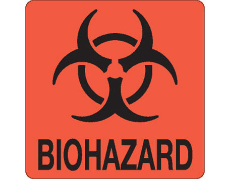 "Hazardous Labels, ""Biohazard"" Printed Laboratory Labels"