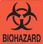 Biohazard Hazardous Labels