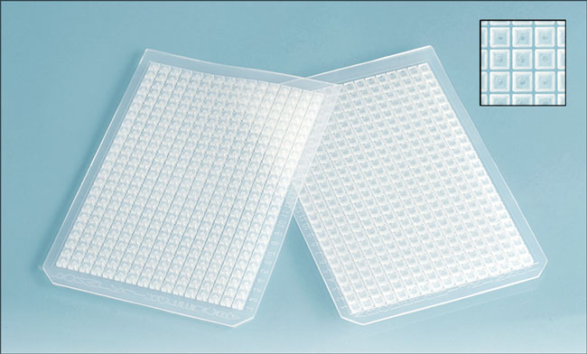 Silicone Sealing Mats for 384 Square Well Microtitration Plates w/ PTFE Coating